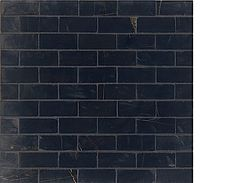 "Walker Zanger Brick Stone Mosaic Black Noir 1""x2.5"" #drdtile"