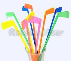 Golf club #cocktail stirrers / #drink swizzle #sticks - neon colours!,  View more on the LINK: http://www.zeppy.io/product/gb/2/300937900588/