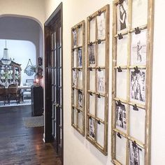 Unique Ways To Display Your Photos In Your Home :: Southeast Nebraska Family Photographer - dirtroadphotography.com Family Pictures On Wall, Display Family Photos, Picture Frame Decor, Picture Shelves, Picture Walls, Photo Display Board, Photo Displays, Canvas Wall Collage, Rustic Gallery Wall