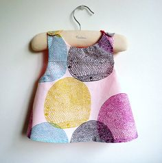 Girls Dress - Reversible Pinafore - reversible dress  - The Orsay - French Style - Babies, Toddlers, Girls from 6 months to 5Y on Etsy, $37.23 CAD