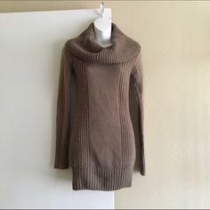 "Cowl neck sweater dress Cowl neck brown sweater dress :: 33"" long H&M Sweaters Cowl & Turtlenecks"