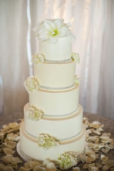 A simply elegant and beautiful wedding cake by Simply Sweet Cakery! Kenny Grill Photography, wedding by agoodaffair.com