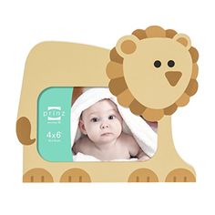 4x6 Little Safari Tan Shaped Lion Wood Frame *** This is an Amazon Affiliate link. More info could be found at the image url.