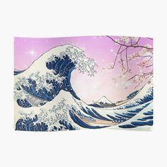 Great Wave Aesthetic by ind3finite | Redbubble Wall Prints, Poster Prints, Great Wave Off Kanagawa, Best Christmas Gifts, Photo Wall Art, Wall Decor, Waves, Artwork, Artists