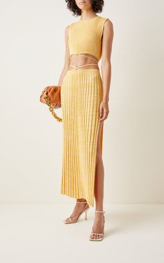 Pleated Knit Midi Skirt By Christopher Esber | Moda Operandi Knit Skirt, Knit Dress, Midi Skirt, Christopher Esber, Cute Homecoming Dresses, High Fashion, Women's Fashion, Cool Outfits, Fashion Dresses