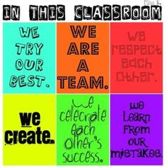 in this classroom- like the colors!