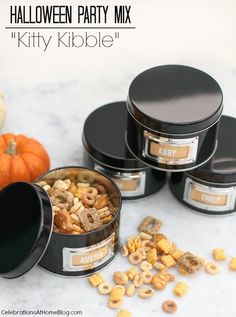 """Halloween Party Snack Mix :: """"Kitty Kibble"""" — Celebrations at Home"""