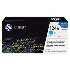 GENUINE HP 124A Q6001A Cyan Toner Cartridge of HP Q6000A Series. Yields 2000 pages at 5% coverage. Use with HP Color LaserJet 1600, 2600, 2605 series printers.
