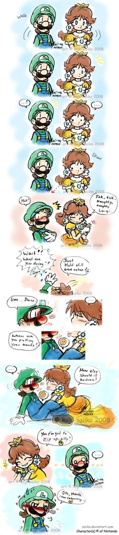 "drew this maybe a week or 2 before the last page went up and colored it sept 24th XP so ya nothing big..just luigi and ""L"" for those who dont know..the kid here is luigis daughter ( that i made up ..."