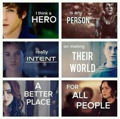 I think a hero is any person really intent on making their world a better place. Fandom
