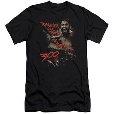300/DINE IN HELL-S/S ADULT 30/1-BLACK
