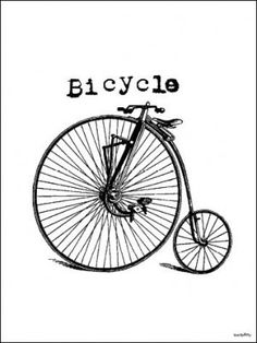 Poster VANILLA FLY - Bicycle