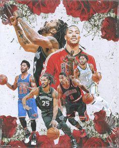 Basketball Pictures, Basketball Shirts, Basketball Legends, Sports Basketball, Sports Pictures, Basketball Players, Derrick Rose Wallpapers, Nba Wallpapers, Rose Nba