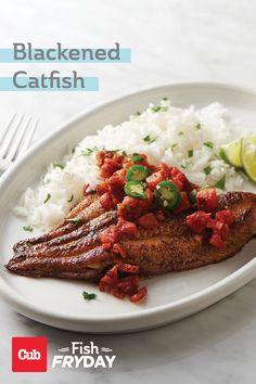Cajun Food, Cajun Recipes, Seafood Recipes, Easy Healthy Dinners, Healthy Snacks, Blackened Catfish, After School Snacks, Skillet, Appetizers