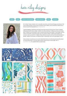 Beautiful new Kate riley fabrics @Centsational Girl