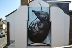 ROA. Shrew in Dulwich, London 2014 (photo © ROA) brooklyn-street-art