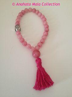 Rhodochrosite bracelet mala by AnahataMalas on Etsy, €12.00