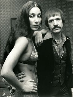 Cher with husband, Sonny.