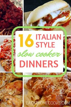 Looking for some delicious new slow cooker meals? I love this round-up of Italian favorites!