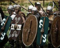 Celtic warriors at the Battle of Metauro. Teuta Senones re-enactors.