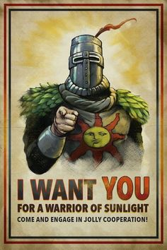 Every time I play a Dark Souls game Dark Souls 3, Dark Souls Memes, Dark Souls Solaire, It Wissen, Soul Saga, Praise The Sun, Poster Art, Geek Art, Funny Games