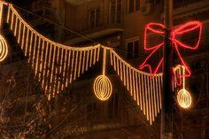 Tsimiski Street Christmass Lights @Thessaloniki ,Greece Christmas Feeling, True Meaning Of Christmas, Thessaloniki, Christmas And New Year, Light Bulb, Greece, Ceiling Lights, Street, Home Decor