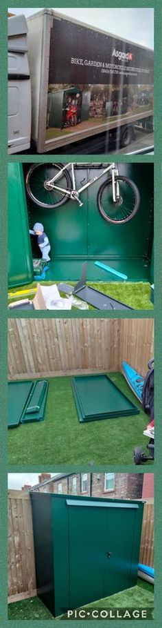 """""""Delighted with our new Asgard Shed!! It's exactly what we wanted. Super secure, neat looking and excellent quality. Highly recommended. Ps my husband managed to put it up by himself which was a bonus."""" - Katy Marie #bikeshed #bikestorage #bike #cyclling #shed #metalshed #securestorage #gardenshed #gardenstorage #homeimprovement #diy"""