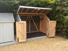 Amazing Shed Plans - Standard Gallery - Now You Can Build ANY Shed In A Weekend Even If You've Zero Woodworking Experience! Start building amazing sheds the easier way with a collection of shed plans! Backyard Storage, Backyard Sheds, Bike Storage, Outdoor Sheds, Outdoor Storage, Motorcycle Storage Shed, Kayak Storage, Backyard Bbq, Bbq Shed