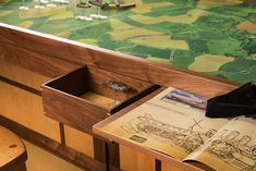 I like the idea of drawers built in to store miniatures. Perhaps they could be cut to fit storage foam trays from KR Multicase?