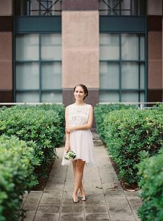 ohdeardrea: That Time We Eloped At The Courthouse... so much about this entire look is great. simple, just want a little more pop of color?