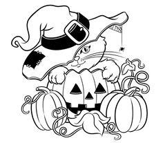 Printable Halloween Coloring Pages . 24 Printable Halloween Coloring Pages . Happy Halloween Printable Coloring Pages Pumpkin Coloring Pages, Fall Coloring Pages, Cat Coloring Page, Coloring Pages To Print, Coloring Pages For Kids, Coloring Books, Kids Coloring, Colouring, Halloween Coloring Pages Printable