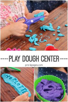 Preschool Play Dough Center. Lots of learning and fun can be had in the play dough center!