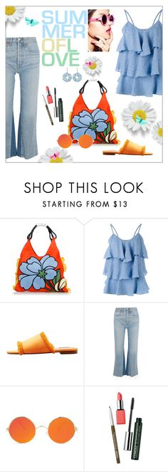 """""""Summer of love"""" by frenchfriesblackmg ❤ liked on Polyvore featuring Marni, Paul & Joe, MANGO, RE/DONE and Clinique"""