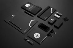 Black sophisticated graphics and branding