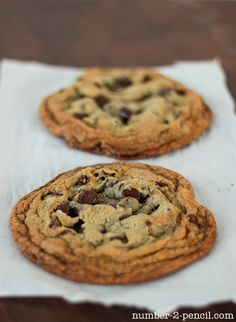 Recipe for 2 chocolate chip cookies
