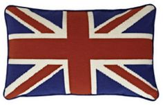 Apair of diffent sized Union Jacks