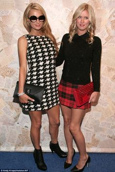 Double trouble: Paris and Nicky Hilton attended the Alice + Olivia Spring 2014 presentation at Highline Stages on Monday night