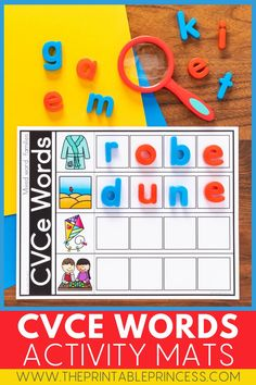 These CVCe Magnetic Letter Mats are perfect for teaching CVCe words to your students. They're easy to prep, just print and add magnetic letters. And with 50 different mats included, you can use these again and again! The perfect literacy tool for teaching vowels!