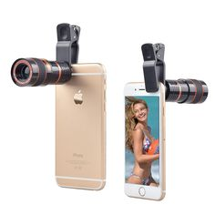 APEXEL lens Zoom Mobile Phone Telescope Clip Lens for iPhone 6 7 8 Plus Cell Phone Universal Camera Lenses for Samsung Phone Lens, Lg Phone, Galaxy Note, Angles, Android Camera, Android Phones, Iphone 6, Macro Camera, Camera Lens