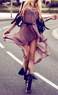 Love the color and how it's a high-low dress