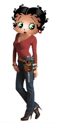 Betty Boop la tecnica electricista