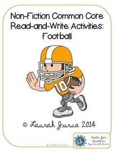 FREE Non-Fiction Common Core Read-and-Write Activities: Football (with Aurasma!)