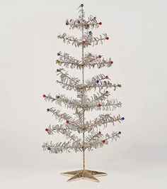 Modern Design: nova68 mid-century-modern christmas tree, retro-theme christmas trees & silver christmas tree