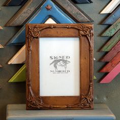 5x7 Picture Frame with Vintage Roman Gold