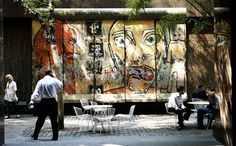 Berlin Wall: Remnant = 12' X 20'   53rd St. (Between Paley Park &  Jefferies Office Building) ....Divided Berlin From 1961 - 1989