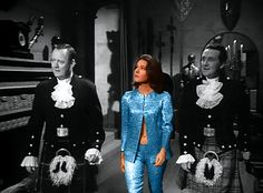 Interesting colorized photo from The Avengers British TV series. Mrs. Peel in great blue attire and cute belly button.