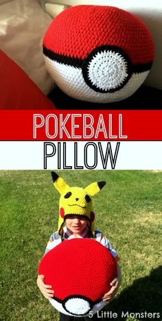 5 Little Monsters: Pokeball Pillow