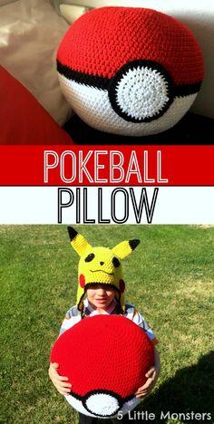 5 Little Monsters: Pokeball Pillow