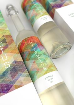 Lux Fructus Fruit Wine Packaging Design by Marcel Buerkleand Simon C Page