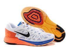 new products 7e58f 6bc0e Buy Nike LunarGlide 6 Running Shoes Men White Orange Cobalt Super Deals  from Reliable Nike LunarGlide 6 Running Shoes Men White Orange Cobalt Super  Deals ...